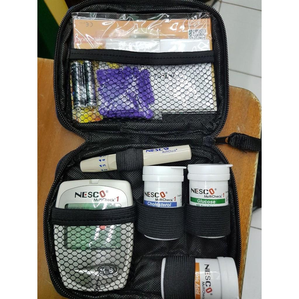 Nesco Multicheck 4 In 1 Alat Test Gula Kolestrol Asam Urat Hb Strip Kolesterol Cholesterol Jaminan Seumur Hidup Shopee Indonesia