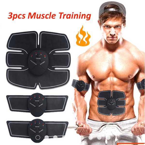 Abs Stomach Arm Trainer Muscle Body Massager Fitness Press Stimulator Gym Pad