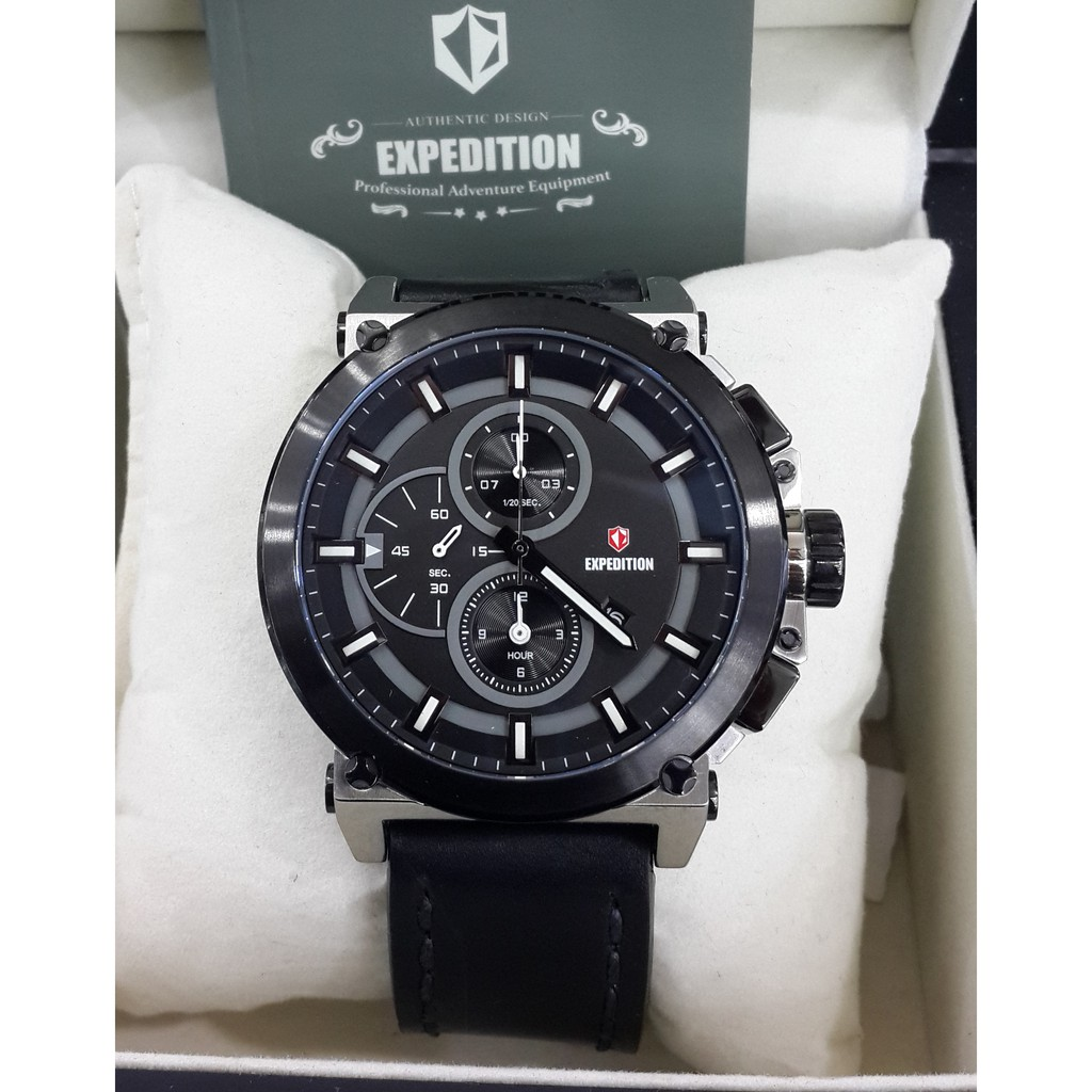 Expedition E6768 Shopee Indonesia 6728 Jam Tangan Pria Rosegold Hitam