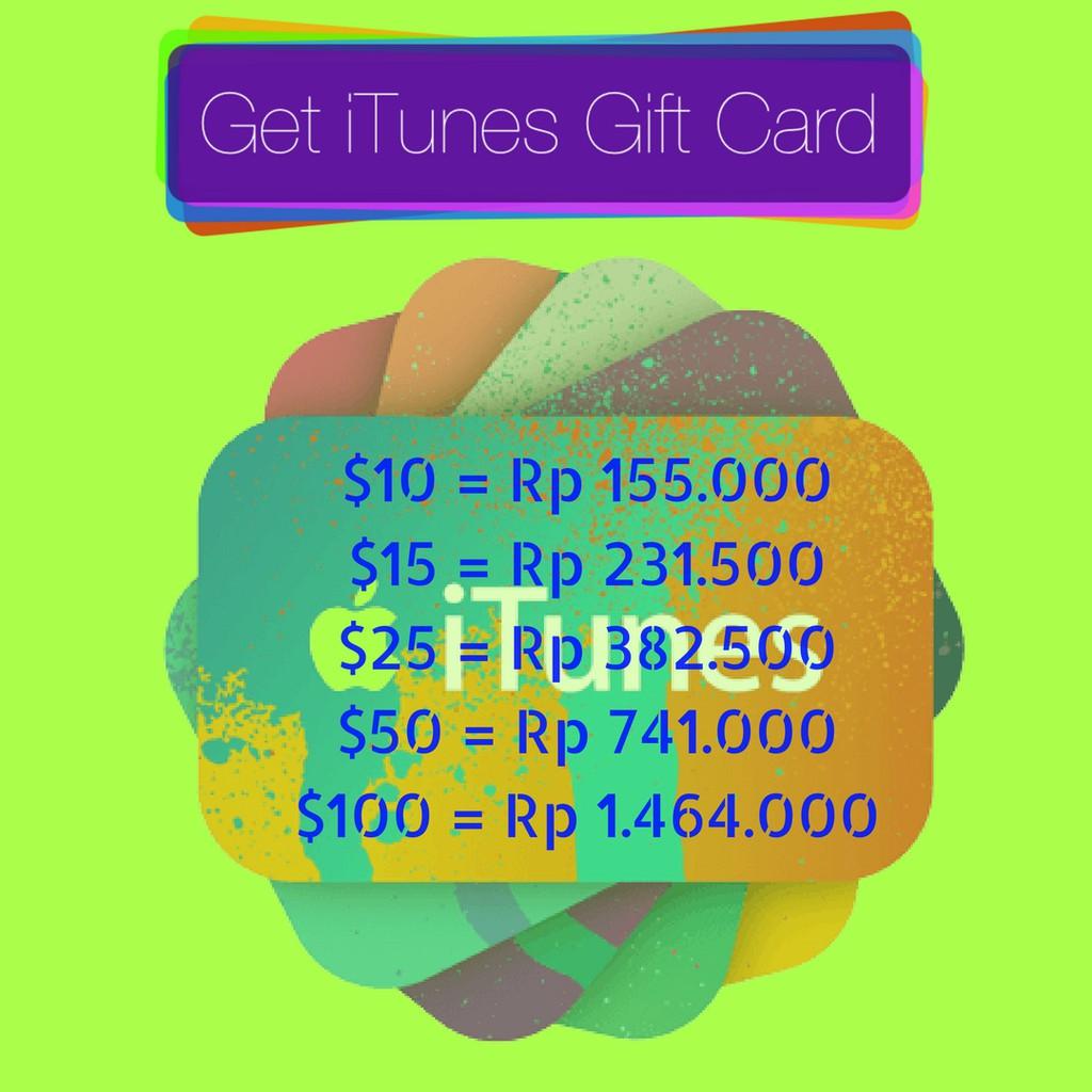 Itunes Gift Card Voucher Igc Reg Indonesia Id Rp 700 Ribu 150000 700k Termurah Terpercaya Shopee