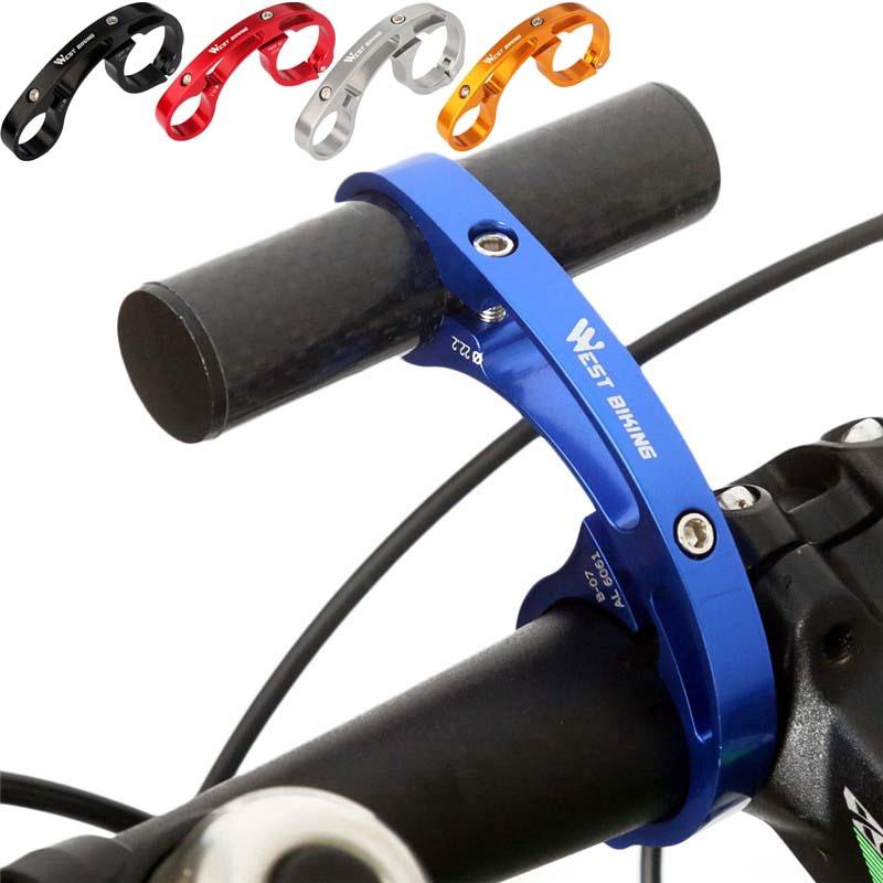 For Bicycle Bike LED Light Front Handlebar Lamp Flashlight w// Taillight Bracket