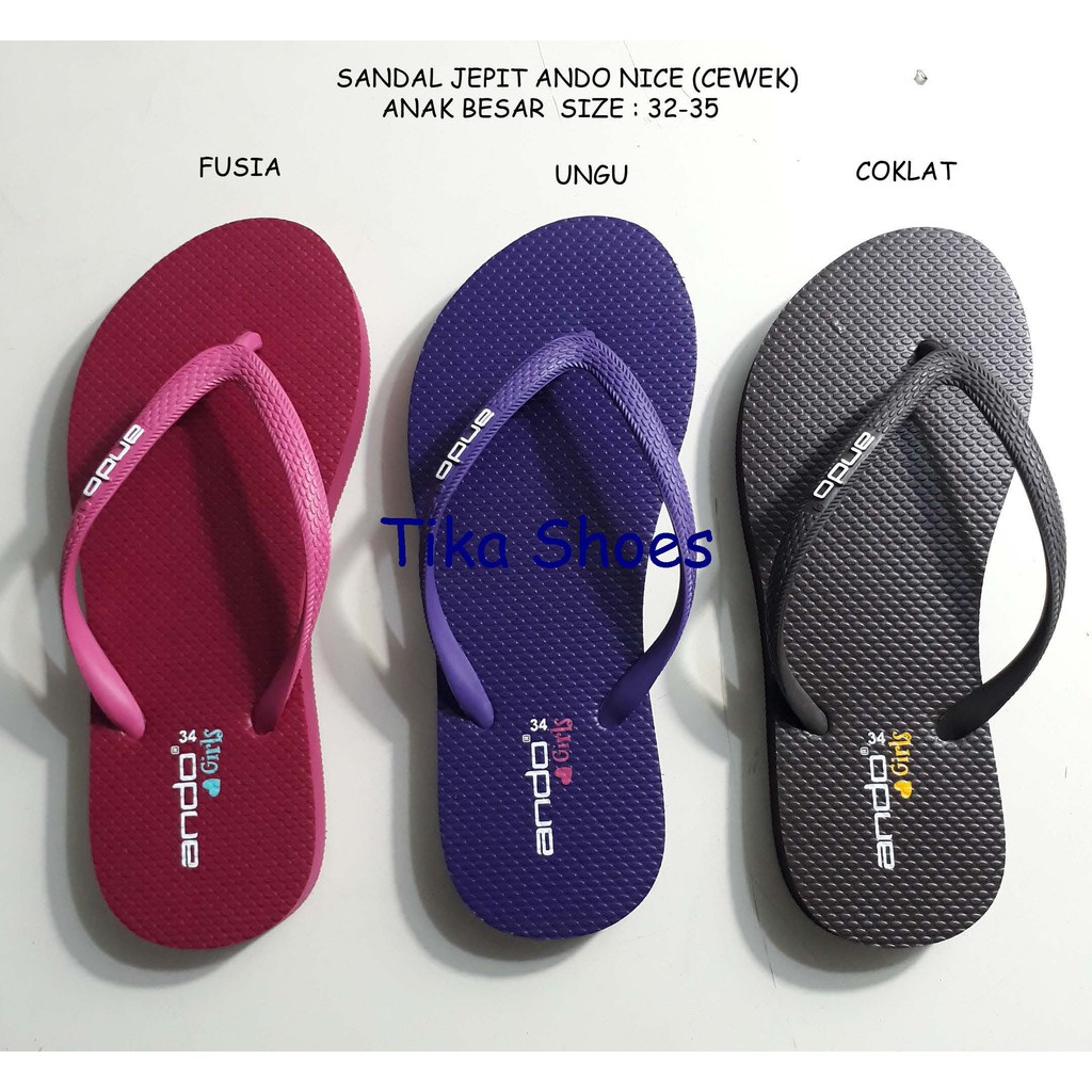 ANDO hk 1502 sandal jepit wanita merah MURAH GRATIS PROMO ORIGINAL AWET NYAMAN SOL EMPUK   Shopee Indonesia
