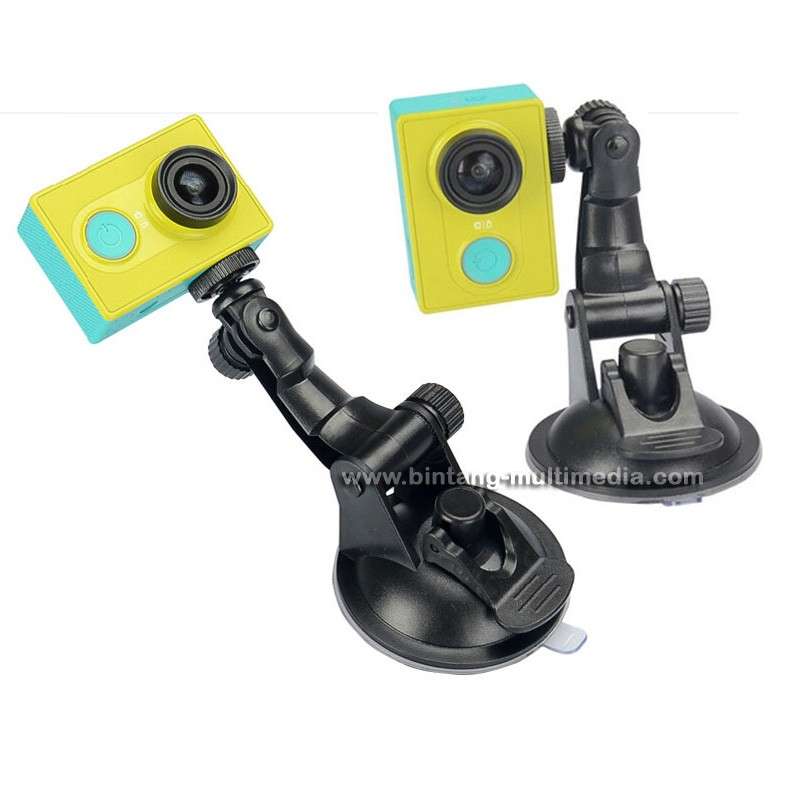Mount Car Holder Mobil Action Kamera Suction Cup for Xiaomi Yi Go Pro Bpro SJ Cam Kogan GoPro