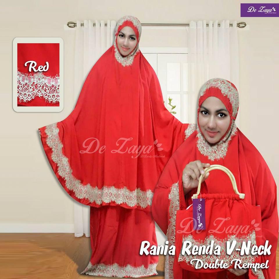 New Rissa Red Mukena Shopee Indonesia Tazkia Rayon Alamanda Flower