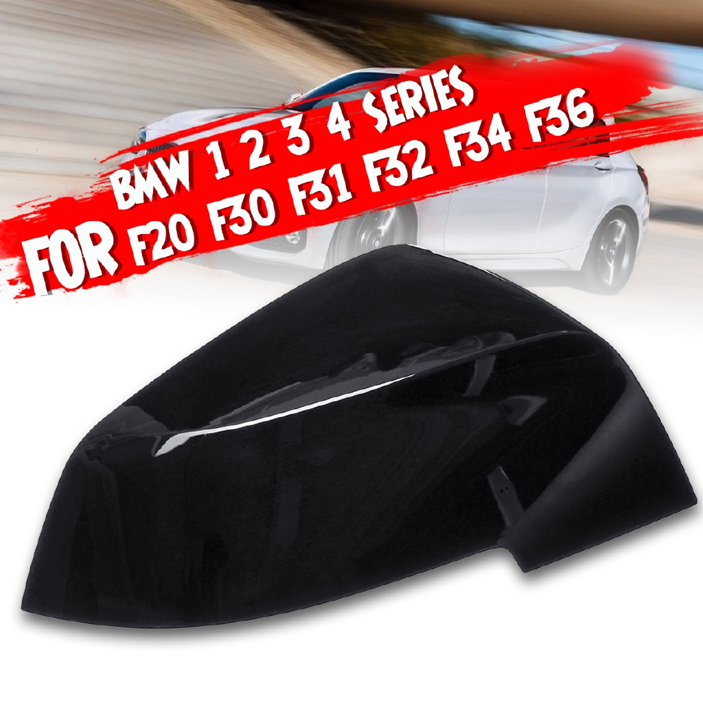 Right Gloss Black Wing Mirror Cover For BMW 1 2 3 4 SERIES F20 F30 F31 F32 F34