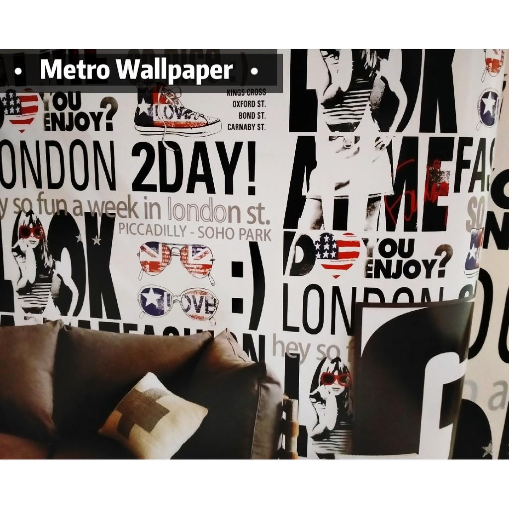 TERBARU Wallpaper Dinding Motif LONDON UK 0 53 X 10m ROLL