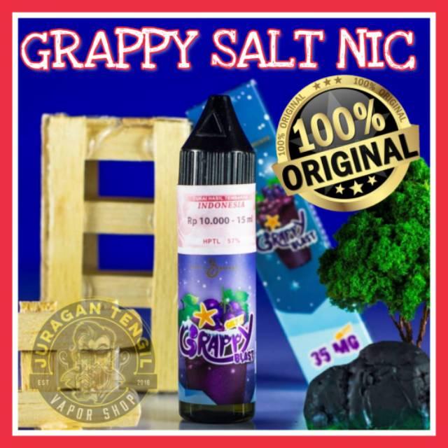Grappy Blast Salt Nic Liquid By Cmw Emkay Grapy Grape Saltnic Nicotine Shopee Indonesia