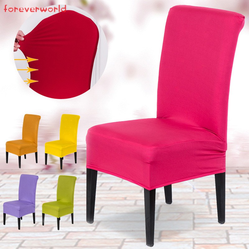 Spandex Chair Cover Removable Stretch Cover Dining Room Wedding Banquet Chair Covers Shopee Indonesia