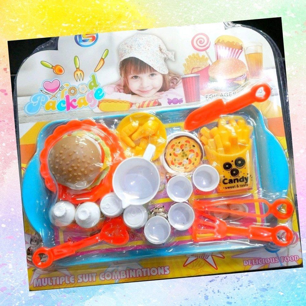 Mainan Burger Kentang Ayam Goreng Pizza Playfood Masak Masakan Kitchen Anak Makanan Minuman Murah Shopee Indonesia