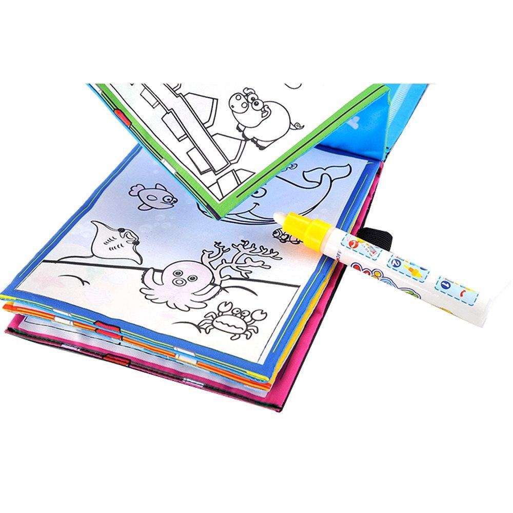 Buku Mewarnai Air Ajaib Gambar Hewan Untuk Anak