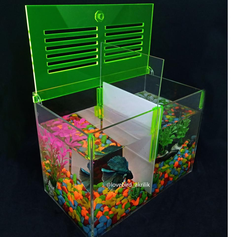 Terlaris Aquarium Akrilik Aquarium Acrylic Aquarium Ikan Cupang Mini Aquarium Aquarium Mini A Shopee Indonesia