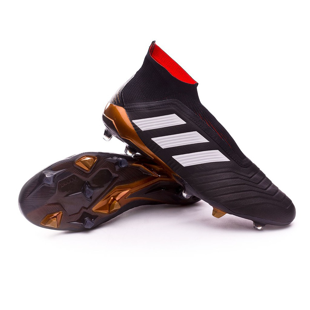 Adidas Predator 18 Fg Tanpa Tali Sepatu Bola Premium Import