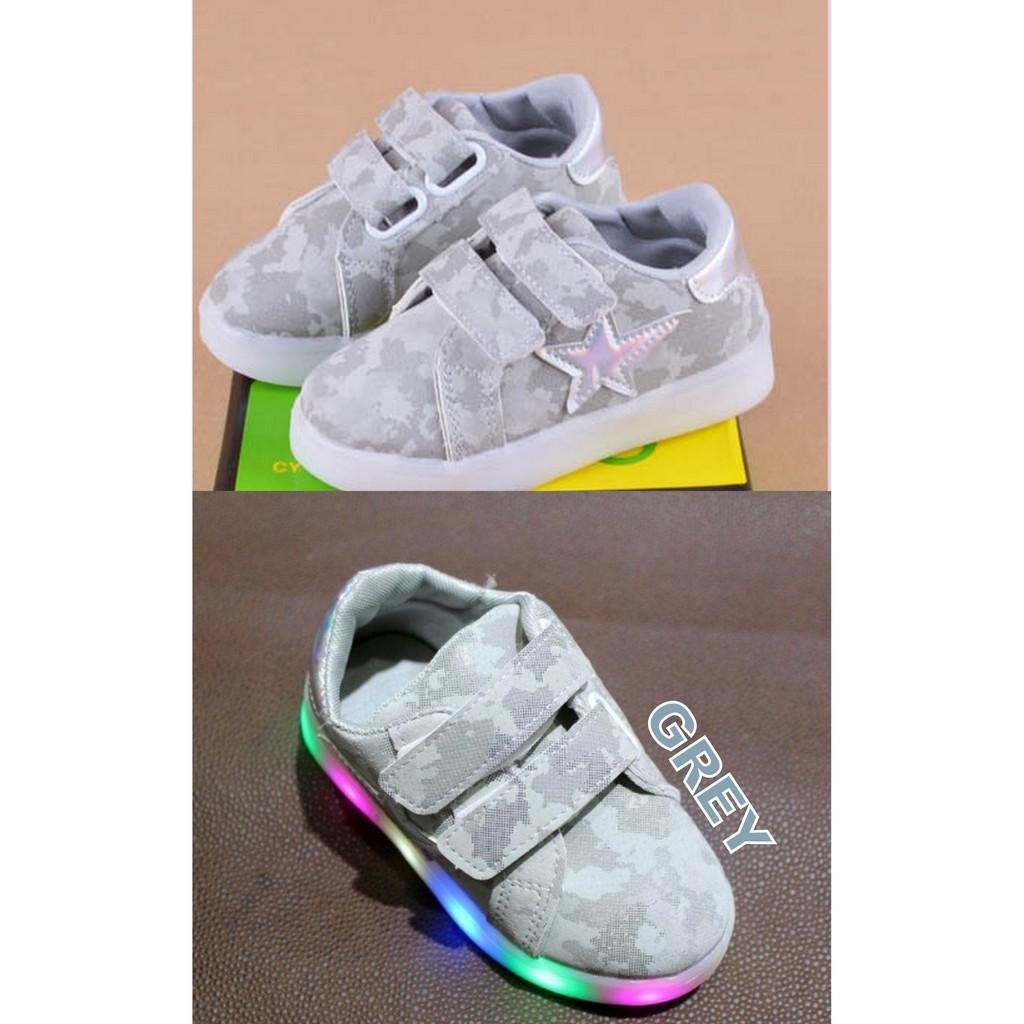 Sepatu Anak Lampu Nyala Led Mickey Black Big Size Shopee Indonesia Slip On Lighting Hitam