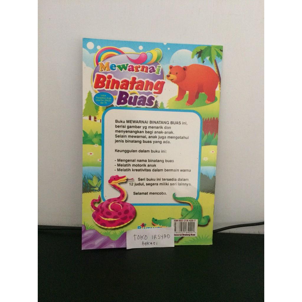 Buku Paud Dan Buku TK Mewarnai Binatang Buas
