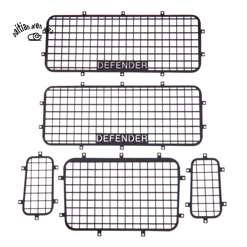 5pcs Metal Window Mesh Protective Net With Screws For 1 10 Rc Crawler Car Traxxas Trx 4 Practical Rc Cars Accessories Toy Shopee Indonesia