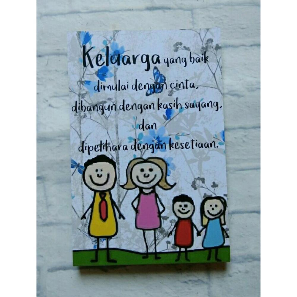 Hiasan Dinding Poster Keluarga Yang Baik Dimulai Dengan Cinta