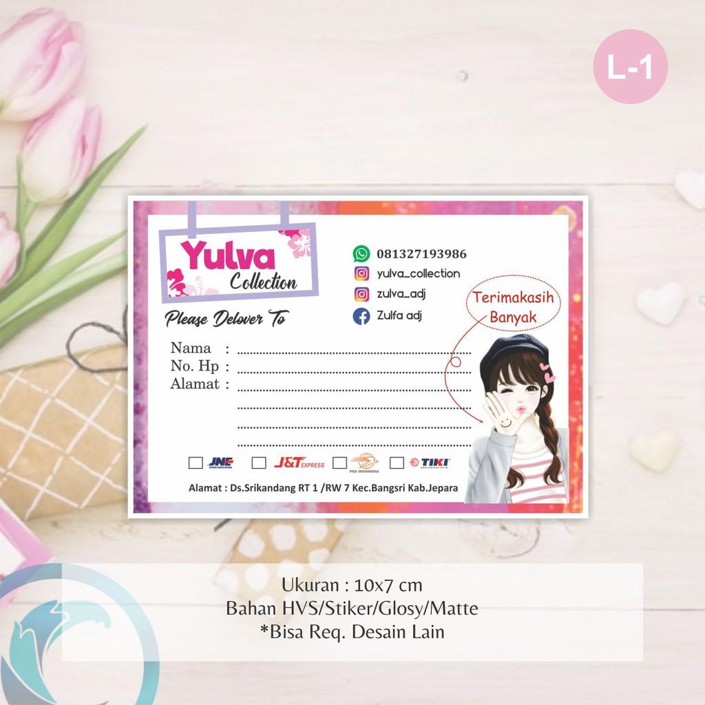 Pengiriman Olshop Custom Paper Olshop Label Pengiriman Kertas Pengiriman Online Shop Shopee Indonesia