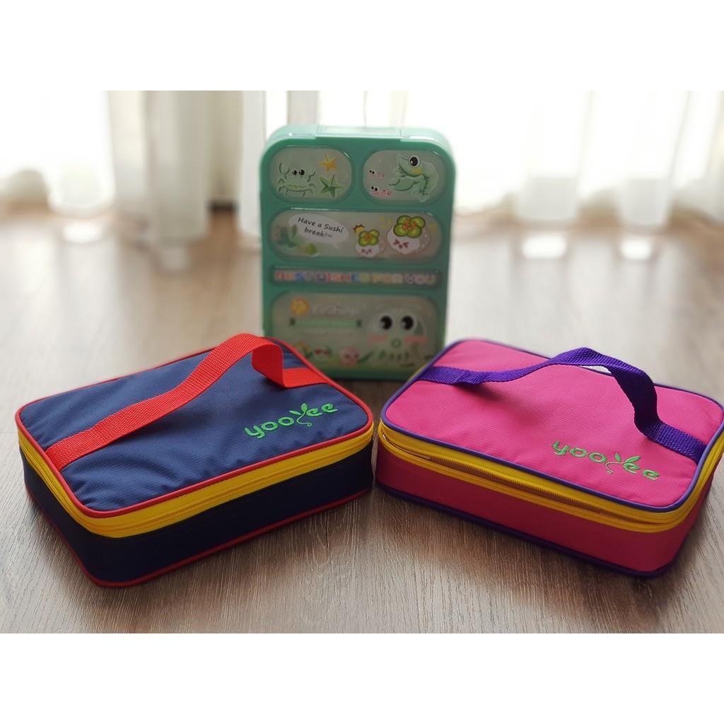 Kecil Tas Kotak Makan Bekal Yooyee Shopee Indonesia Leakproof Lunchbox Mini 605 4 Sekat Anti Tumpah Biru Muda