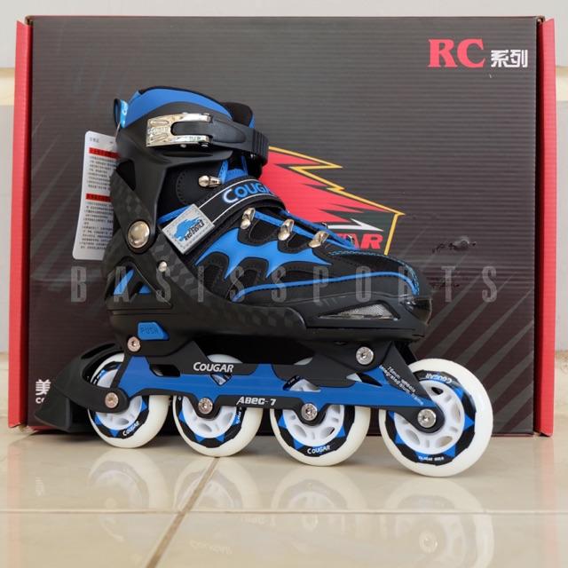 SEPATU RODA   INLINE SKATE   ROLLER BLADE COUGAR CR3 RED DEVILS - BLACK BLUE   9a2ce104f4