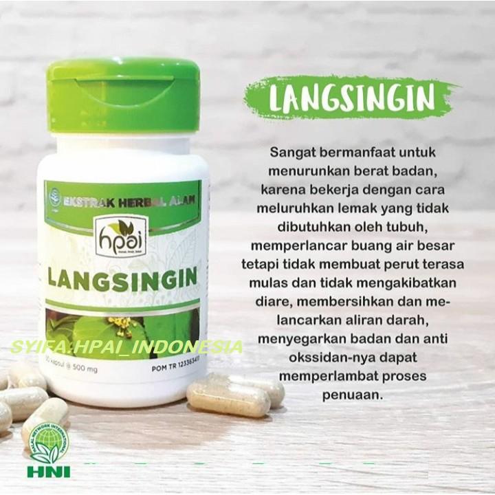 Langsingin Hpai Hni Pelangsing Herbal Langsing Tubuh Singset Turun Berat Badan Mengurangi Lemak Shopee Indonesia
