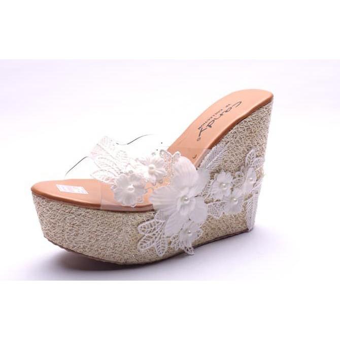 Wedges Joan - Cream - Ivory, 36