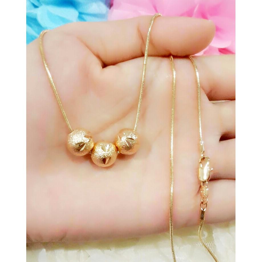Kalung lapis emas milano bulat kombinasi Perhiasn imitasi Yaxiya 562   Shopee Indonesia