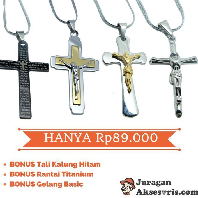 kalung salib titanium - Temukan Harga dan Penawaran Kalung Online Terbaik - Aksesoris Fashion Februari 2019 | Shopee Indonesia