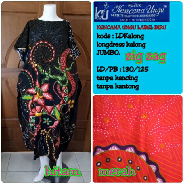 longdress Kencana Ungu Label Biru JUMBO KALONG  ceadb564a8