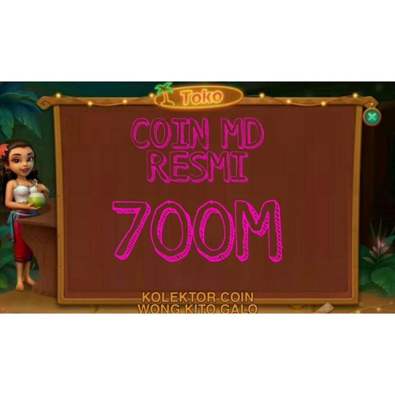 CHIP MD / KOIN UNGU 700M HIGGS DOMINO RESMI