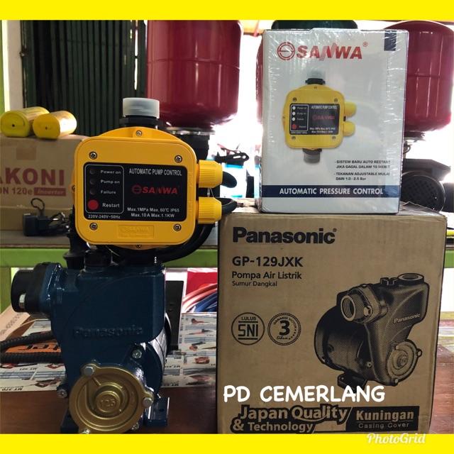 Pompa Air Pendorong Panasonic Otomatis Digital Shopee Indonesia