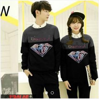 Sweater Couple DIAMOND Abu Hitam DC171AH