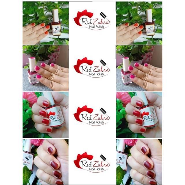 Red Zahra Nail Polish Nail Henna Kutek Muslimah Kutek Halal Kutek Herbal Pacar Kuku Kutek Henna Shopee Indonesia