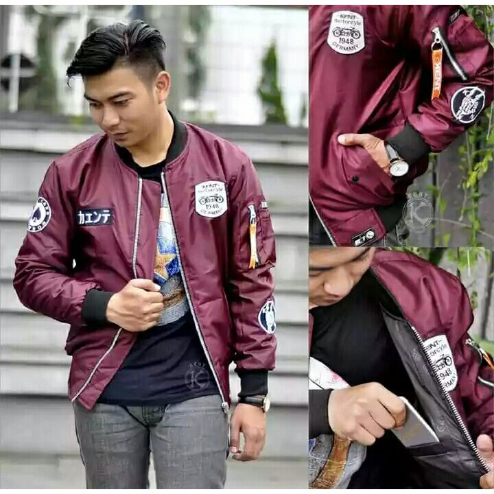 Kent Jaket Bomber Pilot Karlit ( Semi Kulit ) Black Old New | Shopee Indonesia