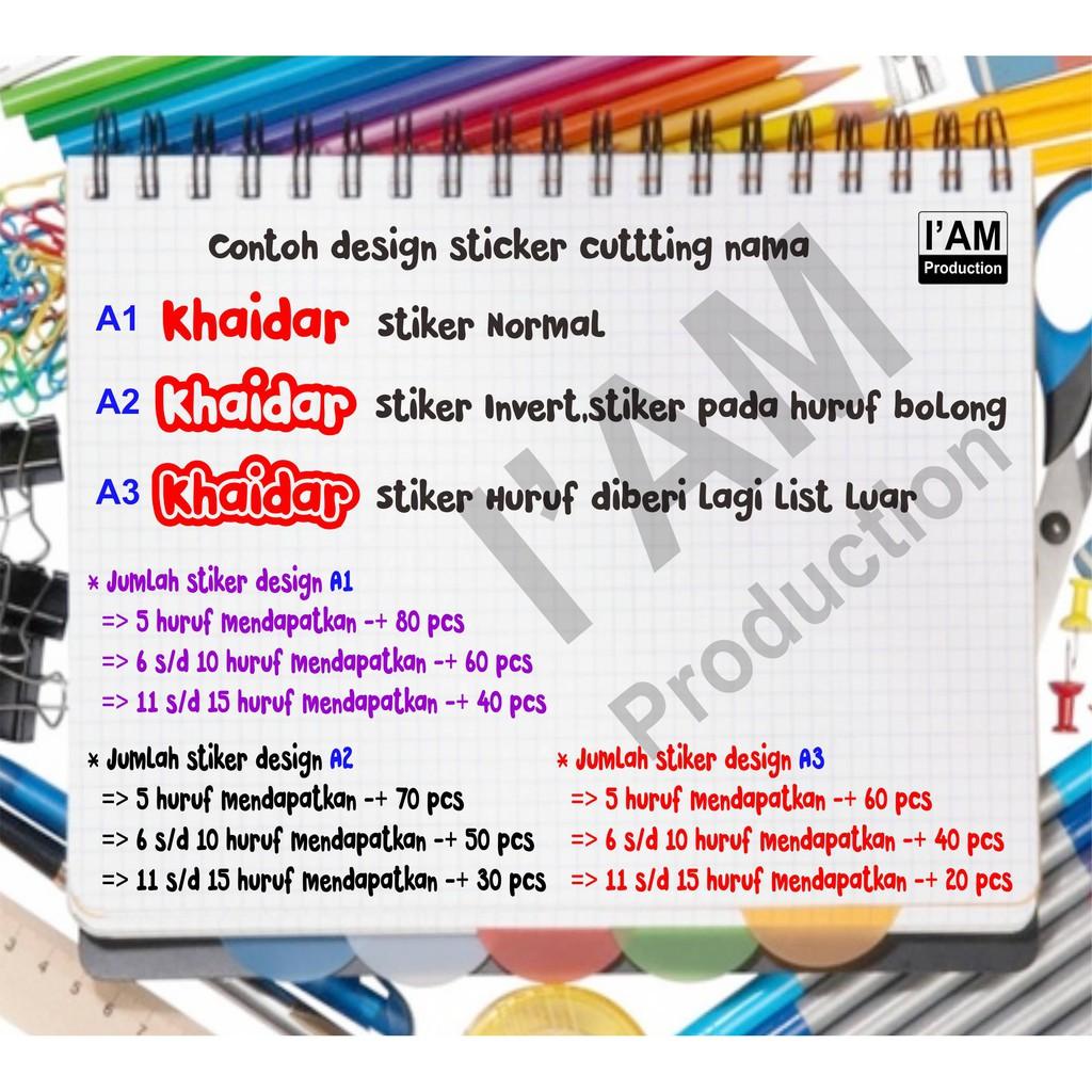 Sticker cutting namapolos tanpa karakterwaterproof dan bisa custom design shopee indonesia