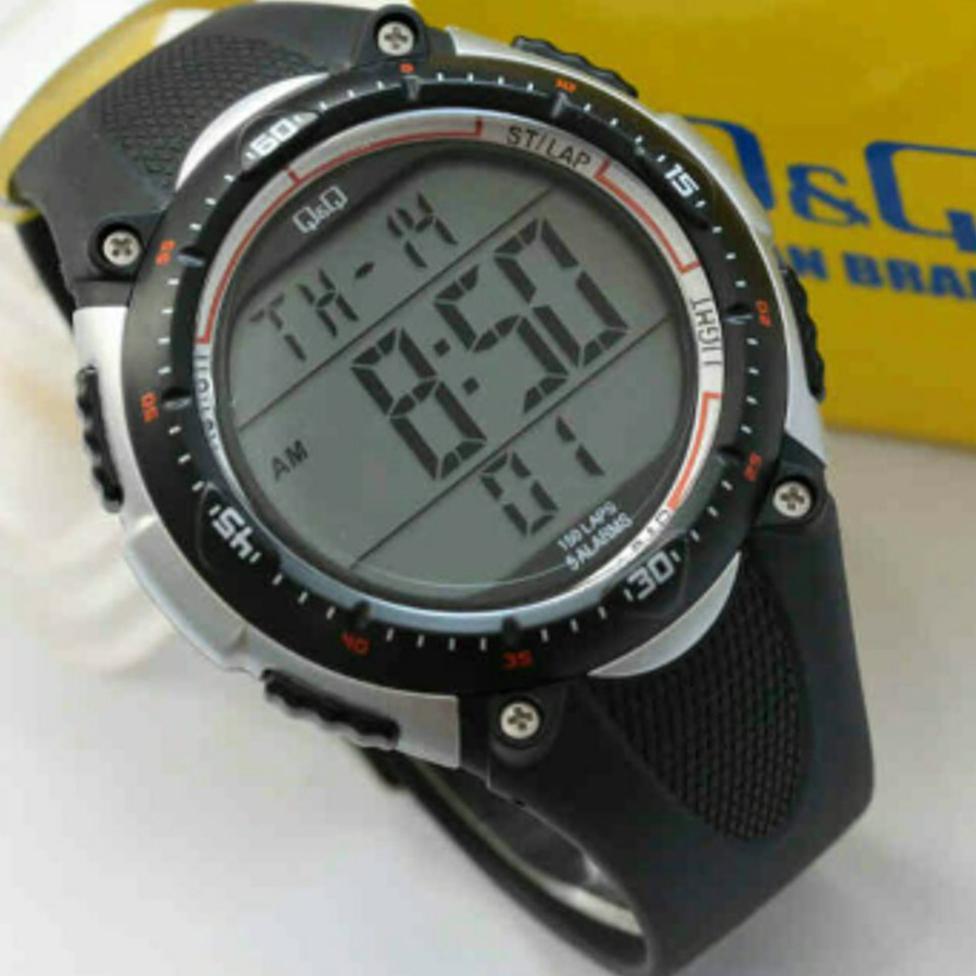 Terbaru Jam Tangan Pria Qq Q Q Original Water Resistant Sporty Outdoor Watch Military Equipment Led Shopee Indonesia
