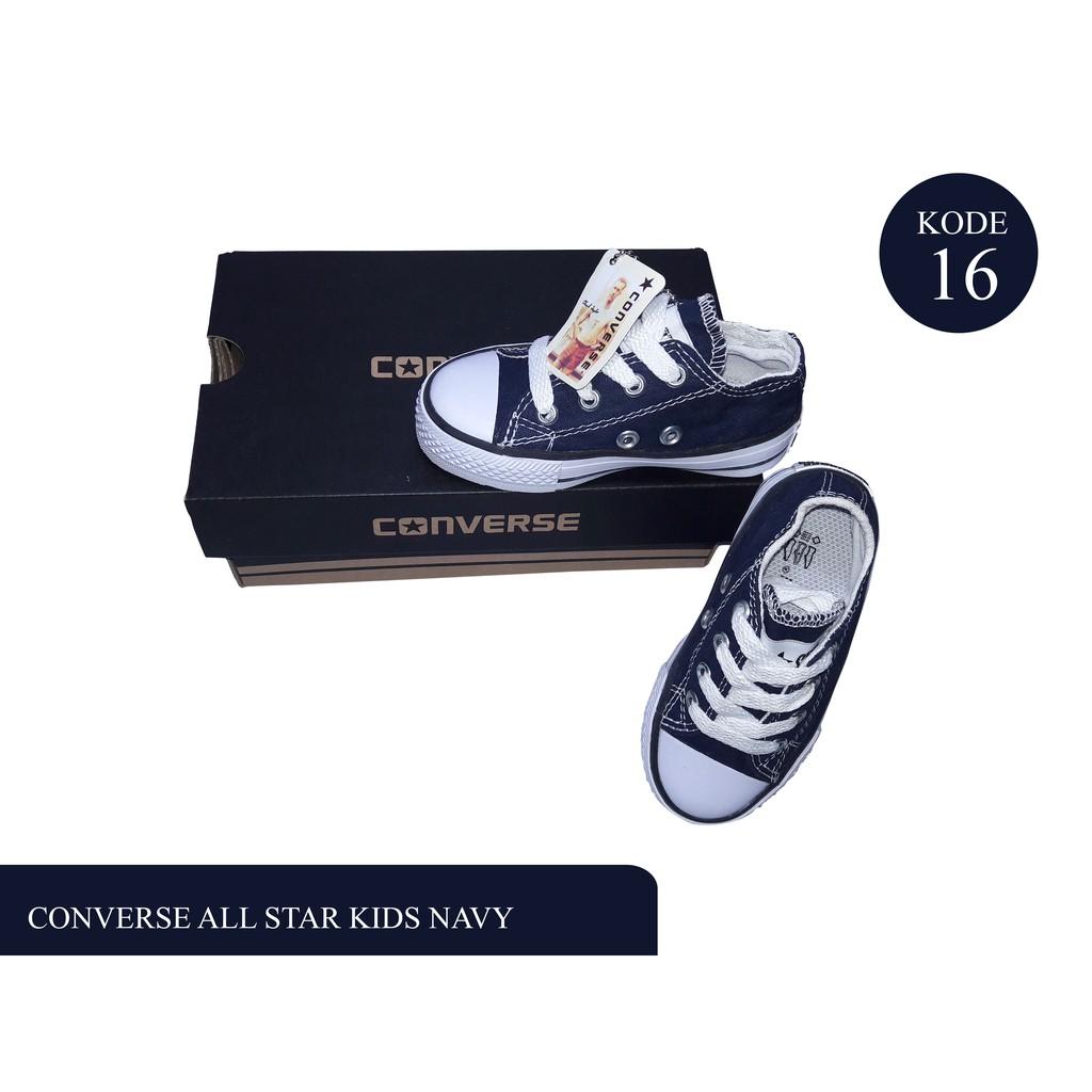 sepatu murah converse all star navy kids   sepatu anak anak   kekinian kids  baby uk 21-35 free box  62fe59fa22