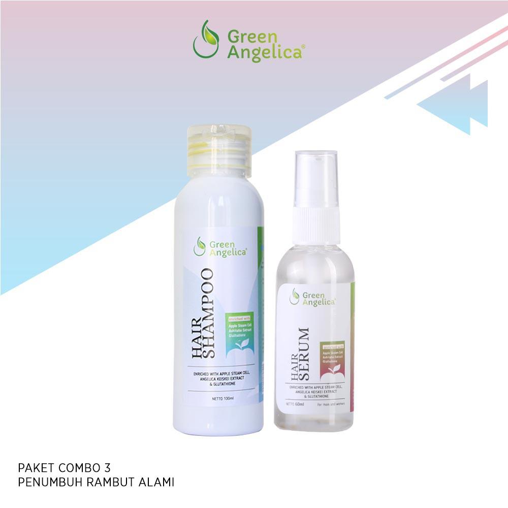 Paket Combo 3 Dari Green Angelica Mengatasi Rambut Rusak Parah Dan Menghilangkan  Ketombe  2b34f9797b