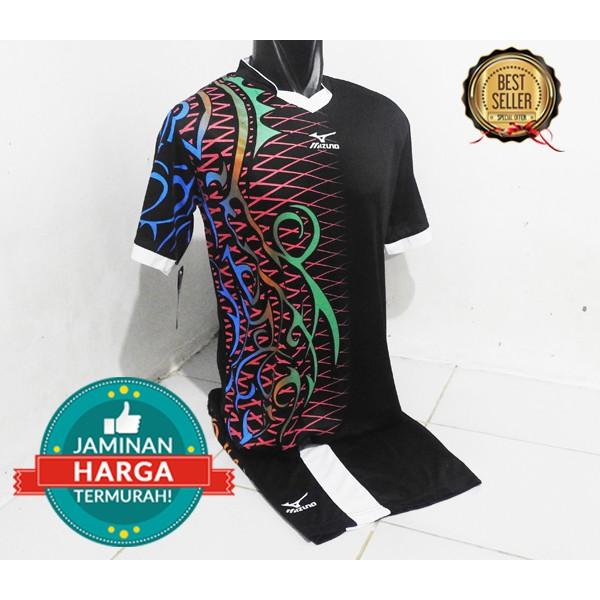 Jersey Mizuno  Setelan Voli  Kostum Futsal  Baju Bola Team  Seragam Kaos  Olahraga  Sepak Bola  Tenis  9f2ee3fd3b