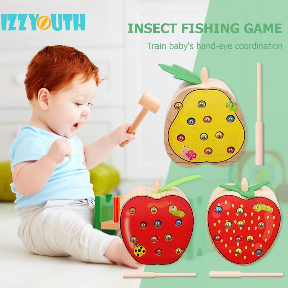 [Love Baby] Mainan Edukatif Bentuk Cacing Buah Untuk Anak