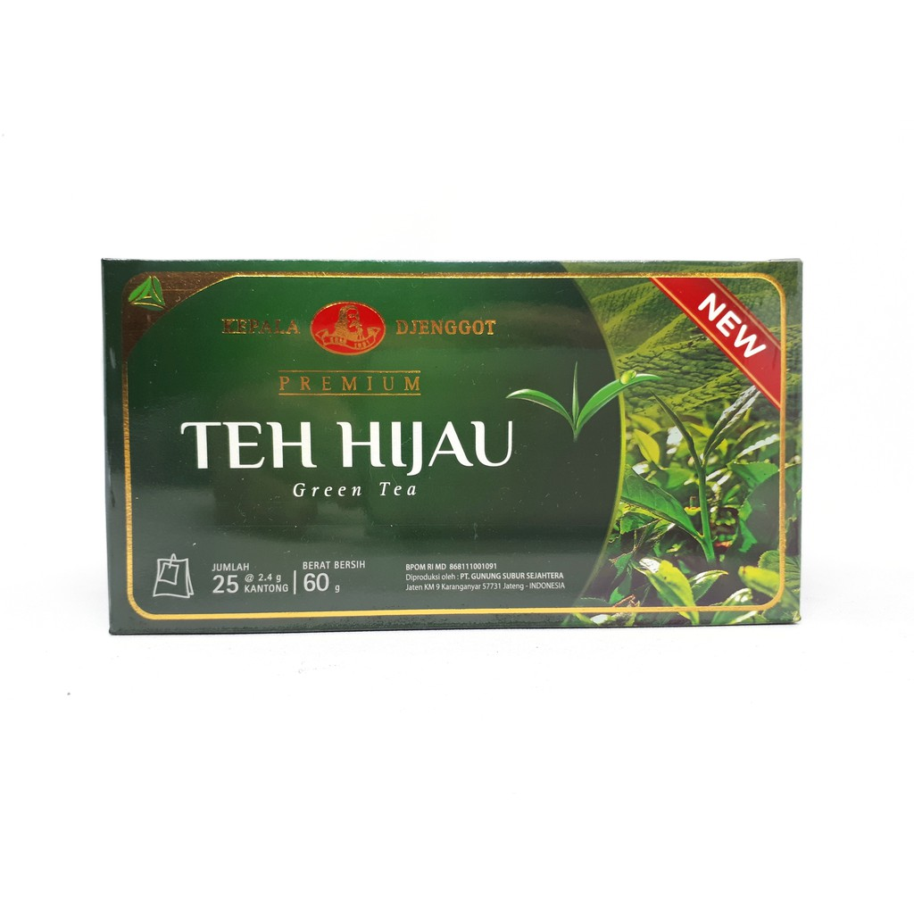 Teh Hijau Green Tea (Teh celup) Kepala Djenggot 60 gram | Shopee Indonesia