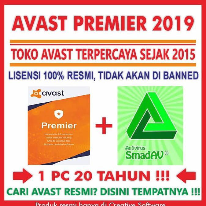 Antivirus Avast Premier Key License Aktif Hingga 5 Tahun Termurah Shopee Indonesia