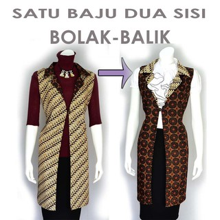 Promo Tunik Vest Cardigan Batik Atasan Bolero A332 Fashion Wanita 20 - 100  - Batik Wanita - Kebaya - f1c6e8e7b2