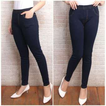 Celana Leging Jeans Wanita Trendy Bahan Bagus Tebal Shopee Indonesia