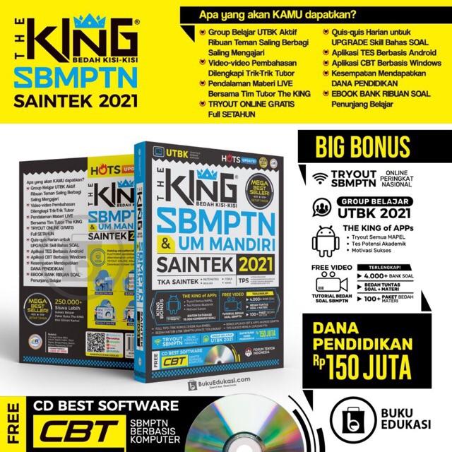 Buku Sbmptn Utbk 2021 Saintek The King Bedah Kisi Kisi Sbmptn Dan Um Mandiri Saintek 2021 Shopee Indonesia