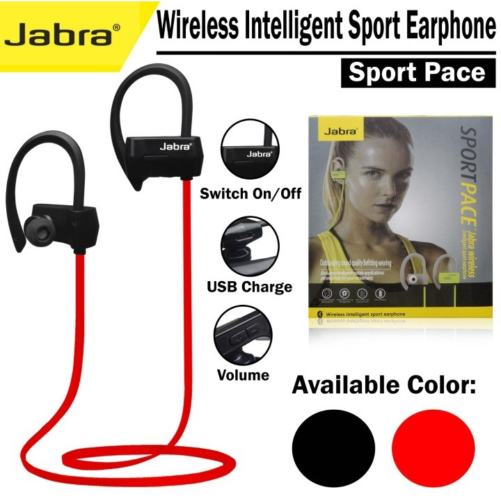 Headset Bluetooth Jabra Sport Pace Bass Shopee Indonesia