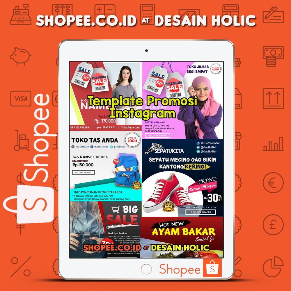Template Desain Iklan Instagram Format Psd Keren Elegan Shopee Indonesia