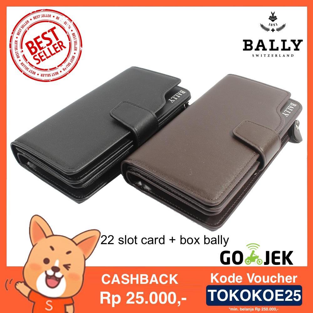 Dompet Kulit Pria Wanita Panjang Import Baellerry 22 Card Black Slot Kartu Brown Shopee Indonesia