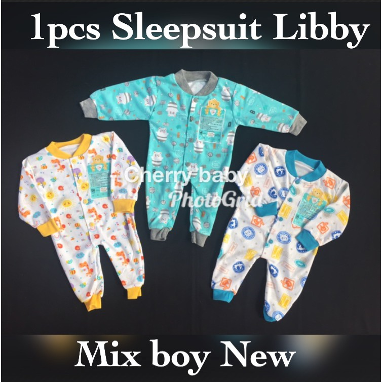 ✢100% Cotton does not fade baby clothes spring and Autumn conjoined glitz sleeve Pajamas hardy craw | Shopee Indonesia