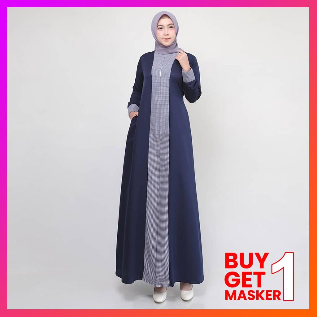 Baju Gamis MAIA Dress Baju Muslim Wanita Lebaran Terbaru Gamis Dress Busana  Wanita  Gratis Ciput
