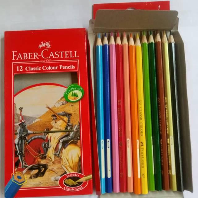 fabercastel classic isi 12 panjang pensil warna  shopee